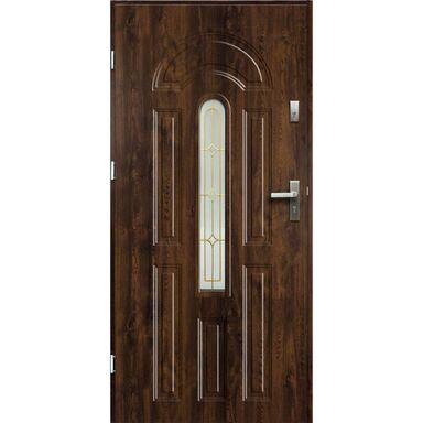 Drzwi zewnętrzne stalowe  WENUS Orzech 90 Lewe