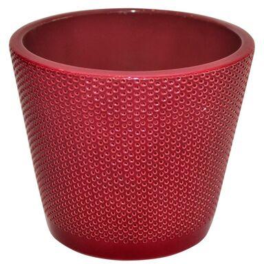 Osłonka na doniczkę 15 cm ceramiczna rubin STOŻEK
