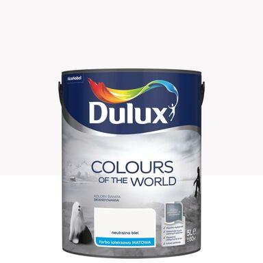 Farba wewnętrzna Kolory Świata 5 l Neutralna biel Dulux
