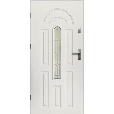 Drzwi zewnętrzne stalowe WENUS Białe 90 Lewe