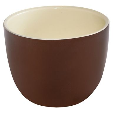Doniczka ceramiczna 16 cm brązowa KLASYK CERAMIK