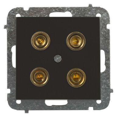 Gniazdo głośnikowe podwójne SENTIA  czarny błyszczący  ELEKTRO - PLAST