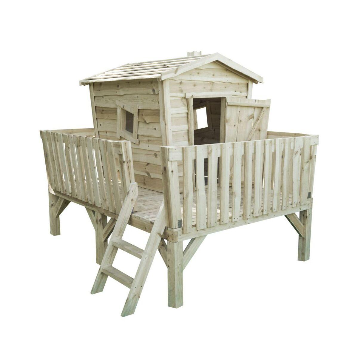 Domek dla dzieci drewniany NEVADA 180 x 240 x 208 cm WERTH-HOLZ