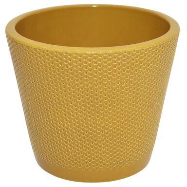 Osłonka na doniczkę 19.2 cm ceramiczna curry STOŻEK
