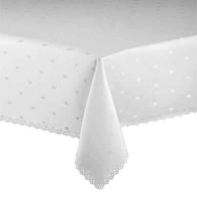 Obrus na stół Dot 125 x 160 cm biały