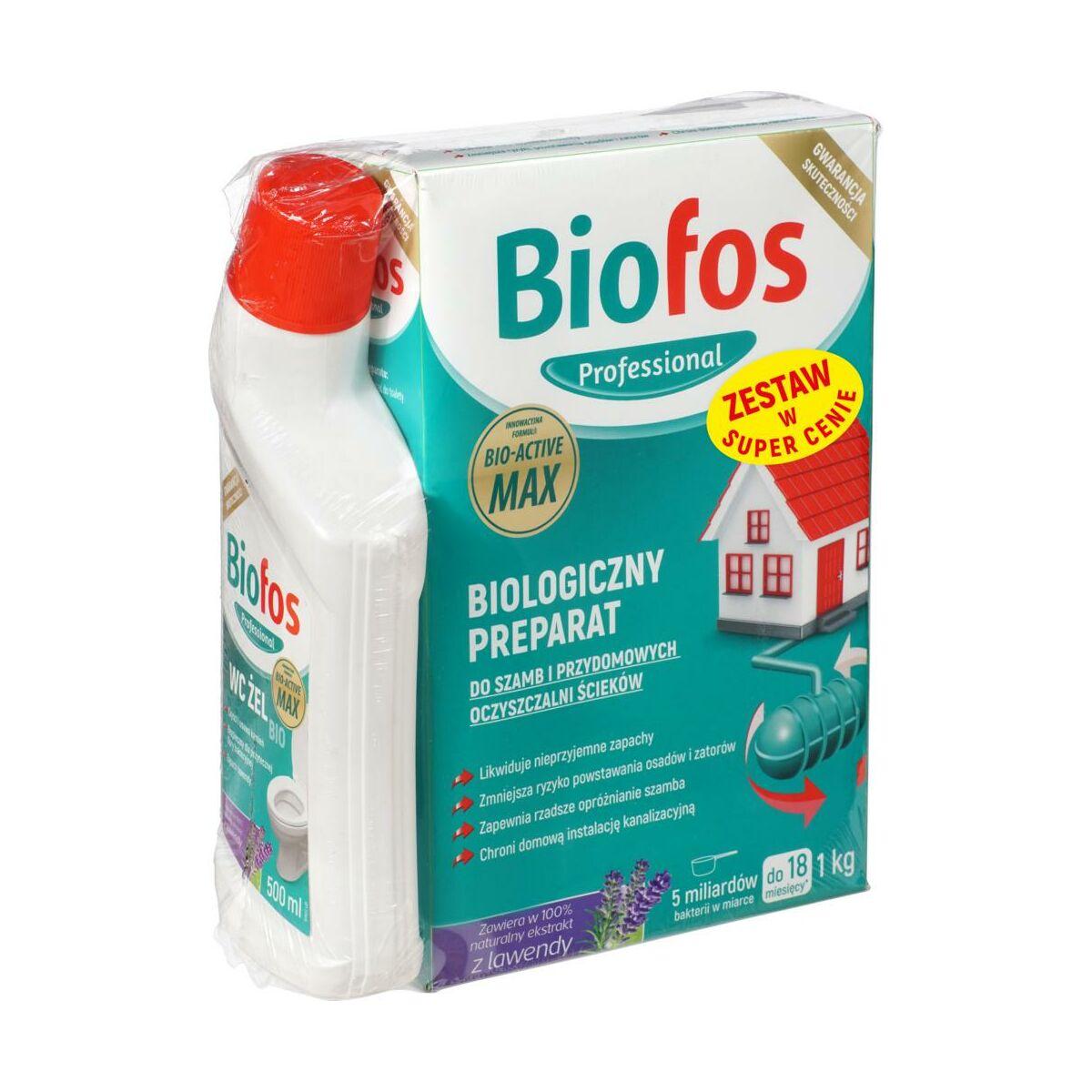 Preparat do szamb 1 kg BIOFOS + WC żel 500 ml