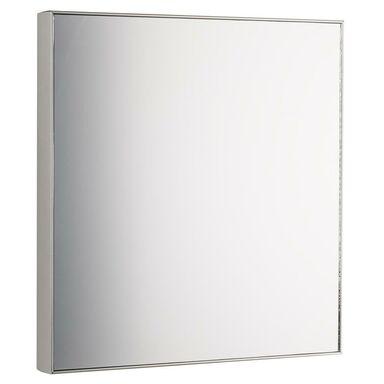Lustro kwadratowe JO srebrne 30 x 30 cm INSPIRE