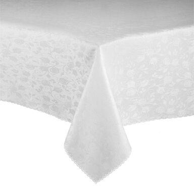 Obrus na stół Rose 140 x 220 cm biały