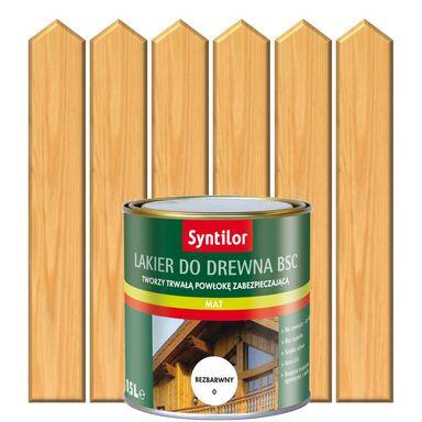 Lakier zewnętrzny do drewna BSC 0.5 l Bezbarwny SYNTILOR