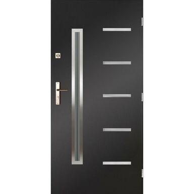 Drzwi zewnętrzne stalowe Nike antracyt 90 prawe Pantor