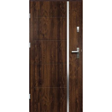 Drzwi wejściowe IRIS RC2 Orzech 80 Lewe