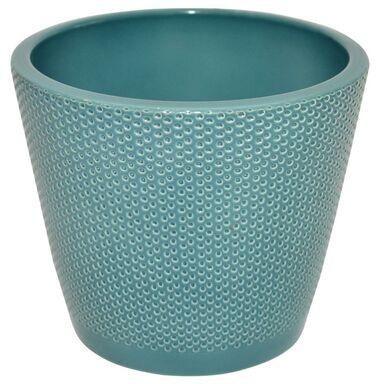 Osłonka na doniczkę 17.3 cm ceramiczna ocean STOŻEK