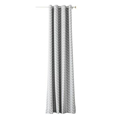 Zasłona BE SIMPLE szara 140 x 250 cm na przelotkach
