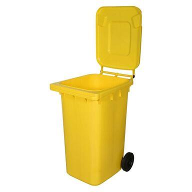 Kosz na śmieci 240 l żółty na odpady plastikowe i metalowe