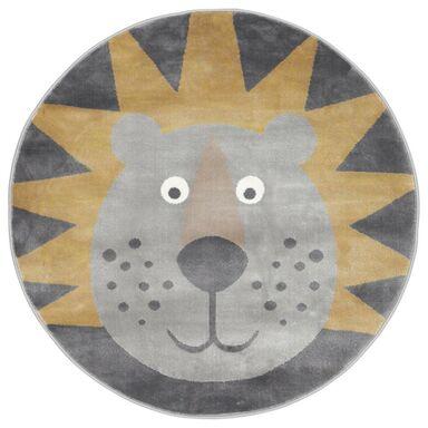 Dywan dziecięcy LEON szaro-złoty okrągły śr. 100 cm
