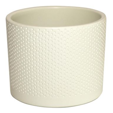 Osłonka ceramiczna 19.4 cm waniliowa WALEC