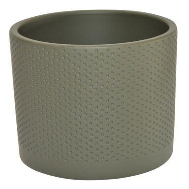 Osłonka ceramiczna 11.9 cm szaro-zielona WALEC