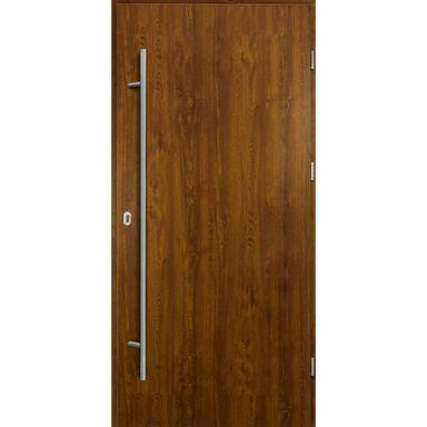 Drzwi zewnętrzne stalowe  SOLID Złoty dąb 90 Prawe