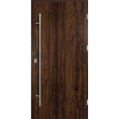Drzwi zewnętrzne stalowe  SOLID Orzech 80 Prawe