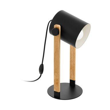 Lampa stołowa HORNWOOD drewniana czarna E27 EGLO