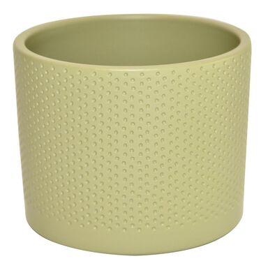 Osłonka ceramiczna 19.4 cm oliwkowa WALEC