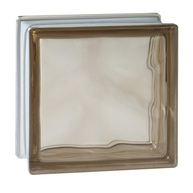 Pustak szklany 1908 W BRONZE szer. 19 cm x gł. 8 cm VITRABLOCK