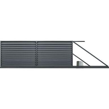 Brama przesuwna KRETA 400 x 150 cm prawa z automatem POLBRAM antracyt