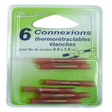 Łączniki z koszulką termokurczliwą 0.5 - 1.5 mm2 6 szt. ZENITECH