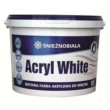 Farba wewnętrzna ŚNIEŻNOBIAŁA 10 l ACRYL WHITE
