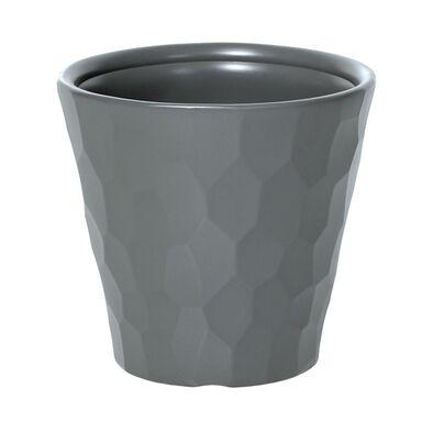 Doniczka plastikowa 39.1 cm szara ROCKA