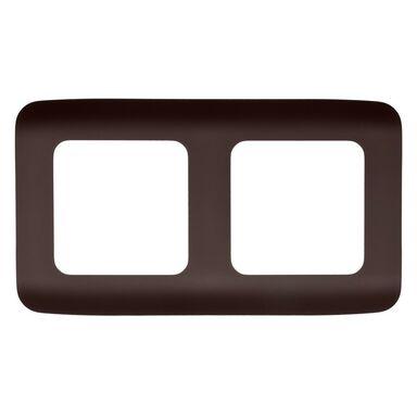 Ramka podwójna COSY  czekoladowy  LEXMAN