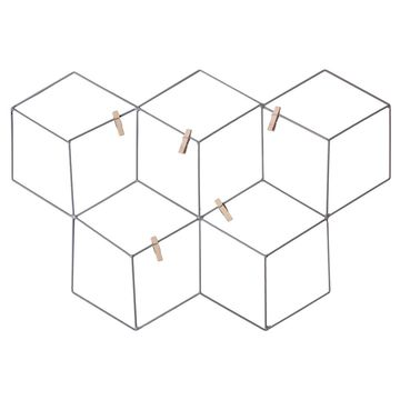 Kratka na zdjęcia QUBO ze spinaczami 53.5 x 37 cm szara metalowa