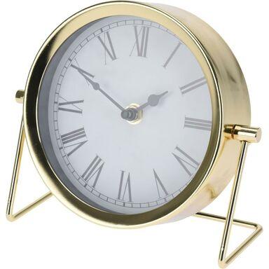 Zegar stołowy okrągły śr. 16 cm złoty