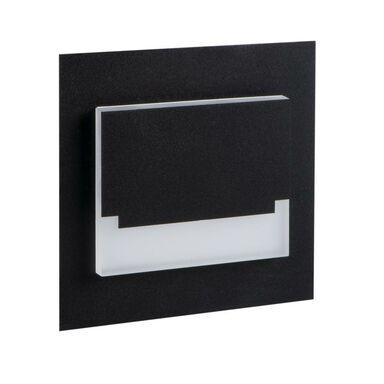Oprawa schodowa SABIK czarna kwadratowa LED KANLUX