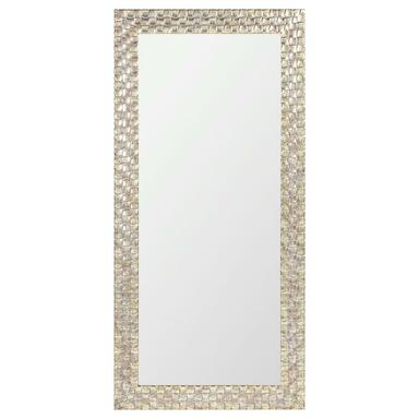 Lustro DORADO srebrno-złote 45 x 110 cm w drewnianej ramie