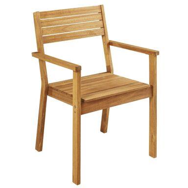 Krzesło ogrodowe drewniane PORTO NATERIAL z podłokietnikami