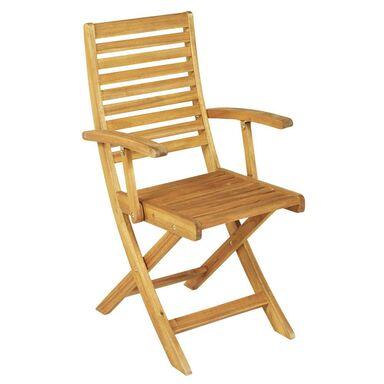 Krzesło ogrodowe drewniane PORTO NATERIAL składane z podłokietnikami