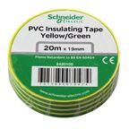 Taśma izolacyjna 19 mm X 20 m żółto - zielona 2420105 SCHNEIDER ELECTRIC