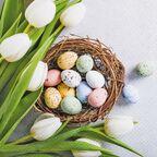 Serwetki świąteczne Eggs and Tulips 33 x 33 cm 20 szt.
