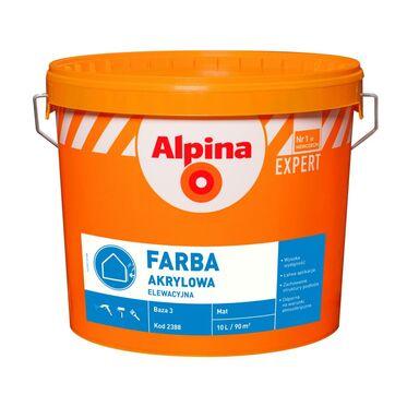 Baza do mieszalni farb FARBA ELEWACYJNA AKRYLOWA Transparentny ALPINA EXPERT