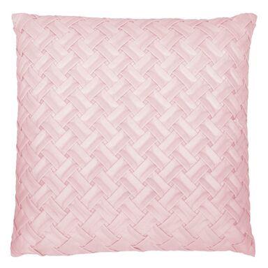 Poduszka BIZE różowa 45 x 45 cm INSPIRE