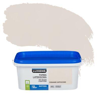 Farba wewnętrzna do ścian i sufitów EMULSJA 2.5 l Poranne cappuccino LUXENS