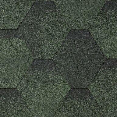 Gont bitumiczny HEXAGONALNY Zielony 3 m2 MIDA