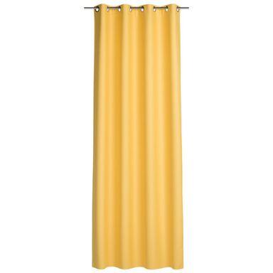 Zasłona gotowa BLACKOUT  kolor Żółty 140 x 260 cm Kółka 265 g/m²  INSPIRE
