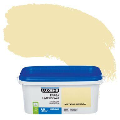 Farba wewnętrzna do ścian i sufitów EMULSJA 2.5 l Cytrynowa uwertura LUXENS