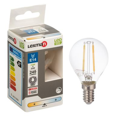 Żarówka LED E14 (230 V) 2.8 W 249 lm Neutralny LEXMAN