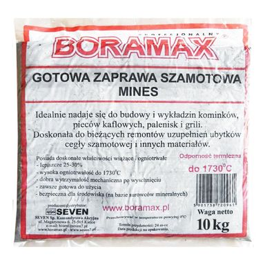 Gotowa zaprawa szamotowa Boramax 10 kg