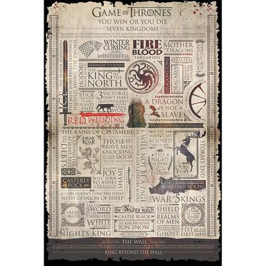 Plakat GAME OF THRONES-INFOGRAPH 61 x 91.5 cm