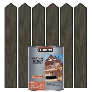 Impregnat do drewna ZEWNĘTRZNY 0.75 l Palisander brązowy LUXENS