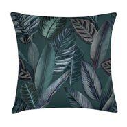Poduszka w liście ciemnozielona 45 x 45 cm